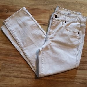 J. Crew cropped white jeans